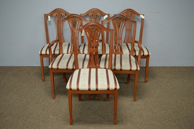 Lot 47 - Morris of Glasgow: set of six Georgian style dining chairs.