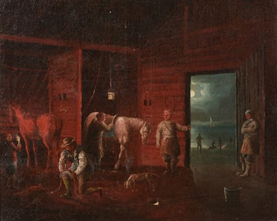 Lot 405 - Attributed to Joseph Wright of Derby - oil.