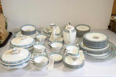 Lot 256 - A Wedgwood 'Runnymede' pattern dinner service.