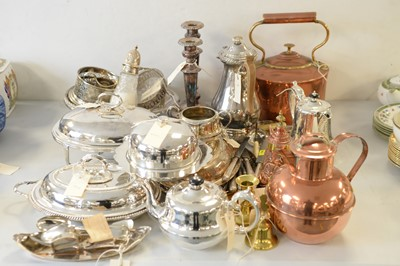 Lot 258 - A large selection of metalware.