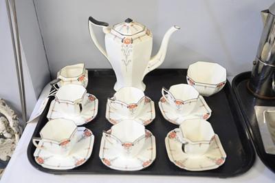 Lot 319 - A Shelley six-piece tea service.