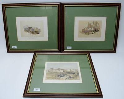 Lot 99 - Three original David Robert - lithographs.