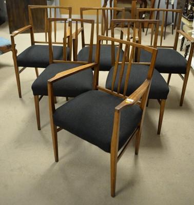 Lot 234 - Six teak dining chairs.