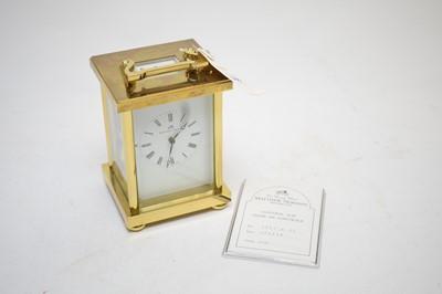 Lot 390 - Matthew Norman brass-cased carriage clock.