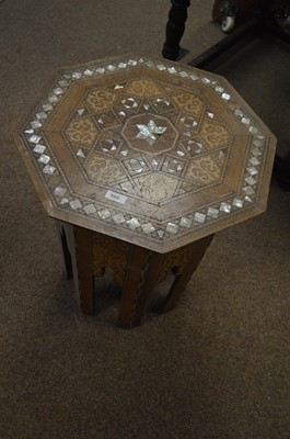 Lot 580 - A first half 20th C Middle Eastern inlaid table.