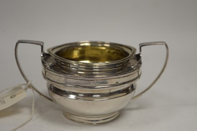 Lot 343 - A George III silver two handled sugar bowl