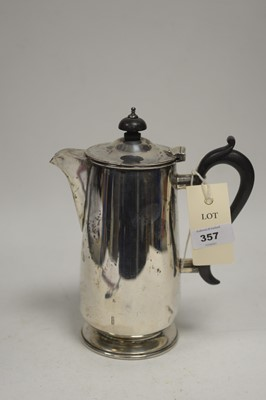 Lot 357 - A silver hot water jug