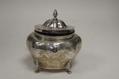 Lot 344 - A silver tea caddy