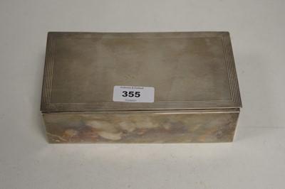 Lot 355 - A silver cigarette box