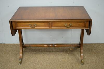Lot 18 - Reprodux Regency style mahogany sofa table.