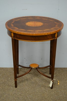 Lot 12 - Edwardian style oval occasional table.