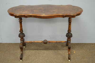 Lot 14 - Victorian burr walnut centre table.