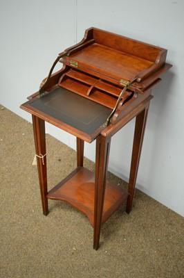 Lot 42 - 20th C cherrywood writing desk.