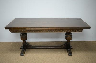 Lot 69 - 20th Century oak refectory table