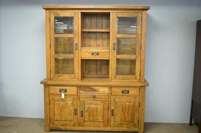 Lot 45 - 20th C hardwood display cabinet.