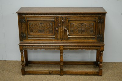 Lot 8 - Good quality Jacobean style side cabinet.