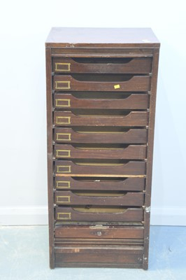 Lot 167 - Early 20th Century mahogany tambour fronted filing cabinet