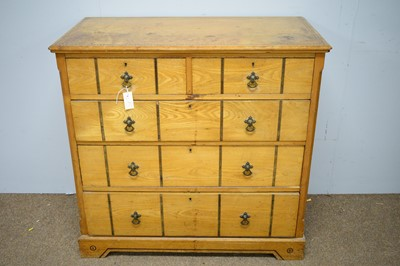 Lot 117 - 19th C ash chest of drawers.