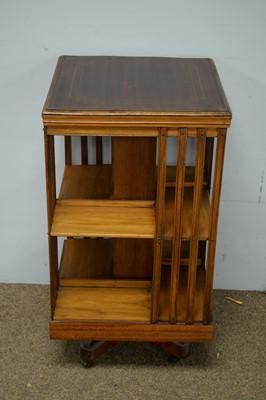 Lot 79 - Edwardian mahogany revolving bookcase.