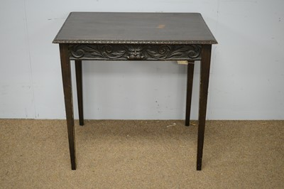 Lot 71 - Late 19th Century Irish bog oak side table