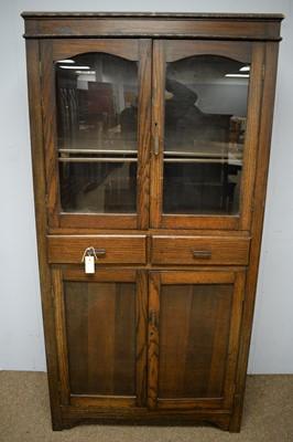 Lot 83 - A 1940s oak bookcase