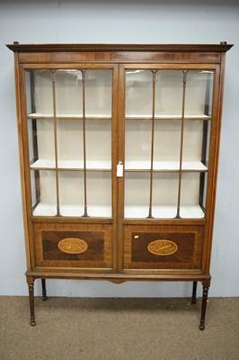 Lot 91 - An Edwardian display cabinet