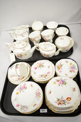 Lot 393 - Extensive Royal Crown Derby bone china tea service.