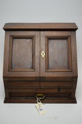 Lot 296 - Late Victorian/Edwardian tabletop stationery box.