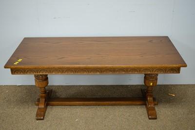 Lot 28 - Modern oak coffee table.