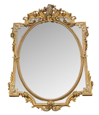Lot 776 - 19th Century gilt and gesso mirror
