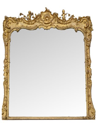 Lot 777 - 19th Century Rococo Revival gilt and gesso wall mirror