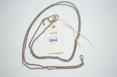 Lot 364 - A yellow metal muff chain.