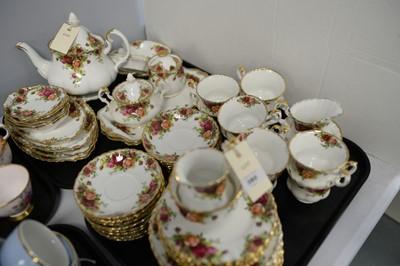Lot 380 - Royal Albert 'Old Country Roses' teaware.