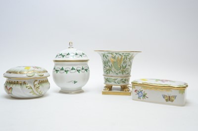 Lot 431 - Herend jars and vases