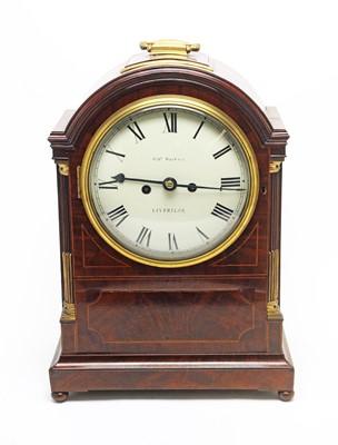 Lot 760 - A Regency mahogany mantel clock.