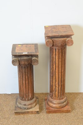 Lot 133 - Two Asian hardwood column stands.