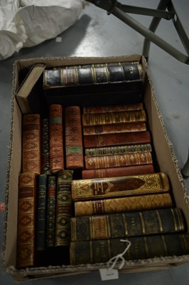 Lot 494 - Leather bound books
