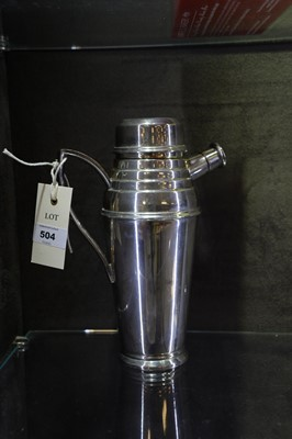 Lot 504 - Asprey, London, silver-plated cocktail shaker