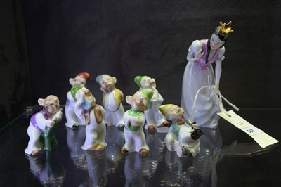 Lot 507 - Herend figures of Snow White and the seven dwarfs
