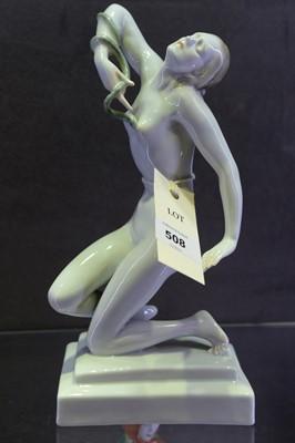 Lot 508 - Herend figurine of a nude female figure