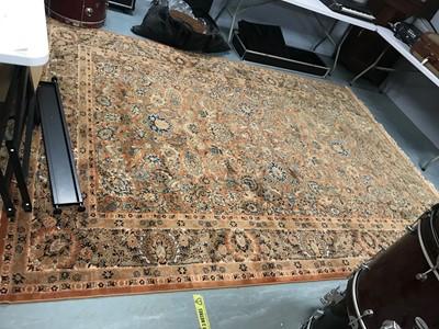 Lot 140A - Machine-made Tabriz style carpet.