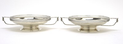 Lot 160 - A pair of George V silver two-handled tazzas.