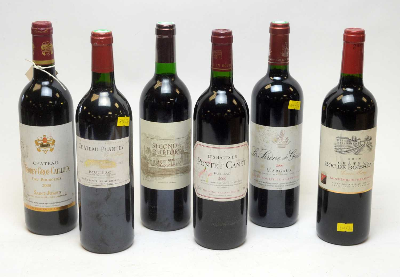 Lot 31 - Six assorted bottles of claret.
