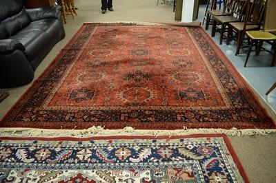 Lot 142 - Machine-made Mossoul carpet.
