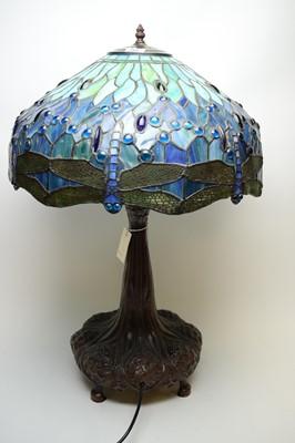 Lot 280 - Repro Tiffany style table lamp.