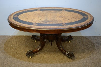 Lot 57 - Late Victorian walnut coffee table