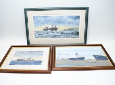 Lot 329 - Bill Wedgwood - Two oils on canvasboard and a watercolour