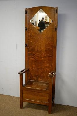 Lot 42 - C.W.S. Limited oak hall settle.