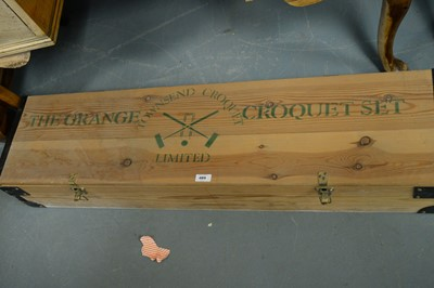 Lot 489 - The Grange Croquet Set and original rules book.