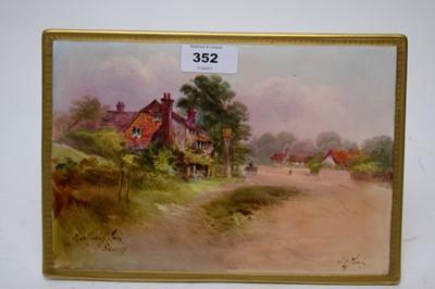 Lot 352 - J.H. Plant Royal Doulton porcelain plaque.